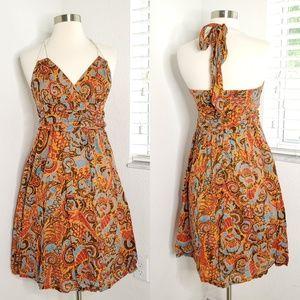 •MOULINETTE SOEURS• Printed Halter Neck Dress.